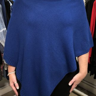 two way poncho royal blue