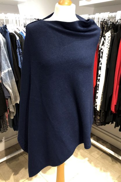 two way poncho navy