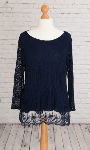 Crochet top navy