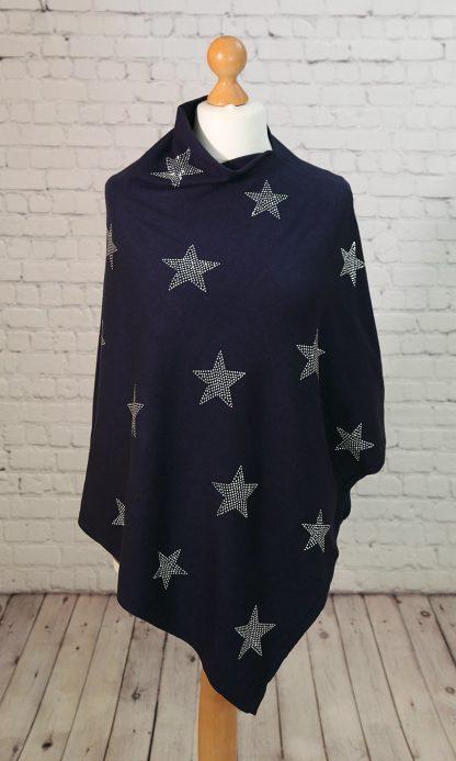 High sparkle star poncho