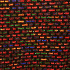 Multi-coloured jumper detail wine
