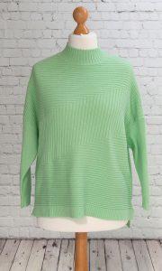 ribbed design jumper mint green