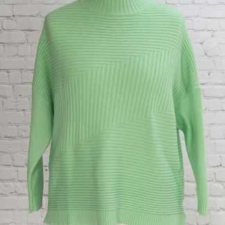 ribbed design jumper mint green