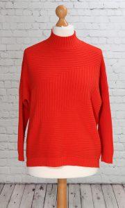 ribbed design jumper orange