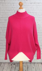 turtle neck hot pink