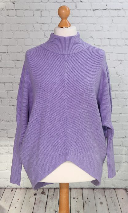 turtle neck lilac