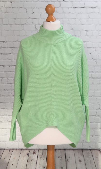 turtle neck mint green