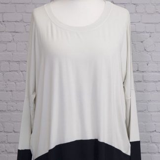 Contrast, long sleeve, jersey feel top