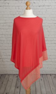 Lightweight poncho chiffon like edging