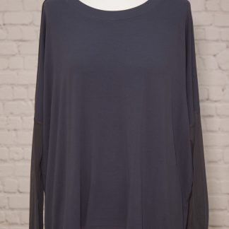 chiffon sleeve, lightweight top