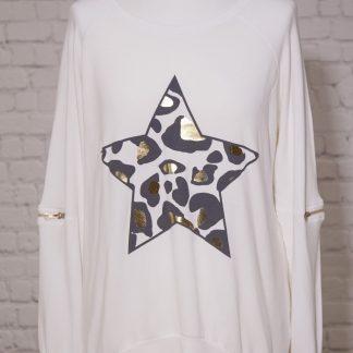 leopard print star