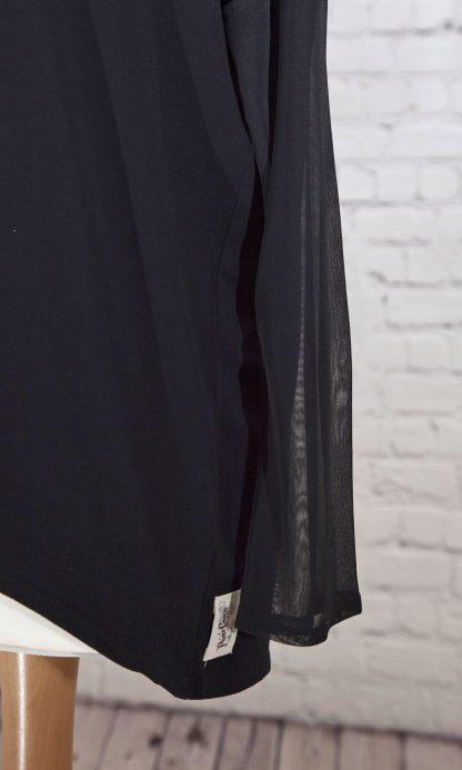 chiffon sleeve, lightweight top