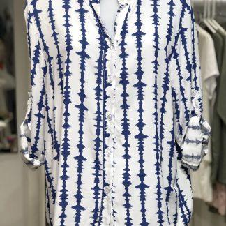 Vertical stripe blouse