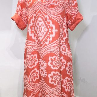 Aztec Print Linen Dress
