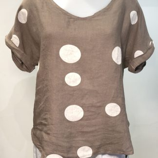 linen spot top