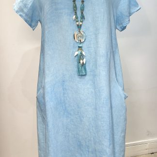 washed linen dress