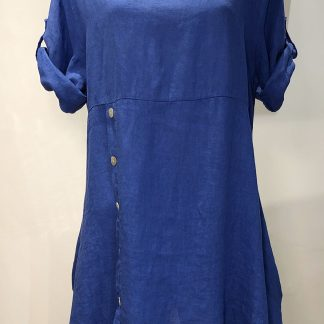 button linen tunic