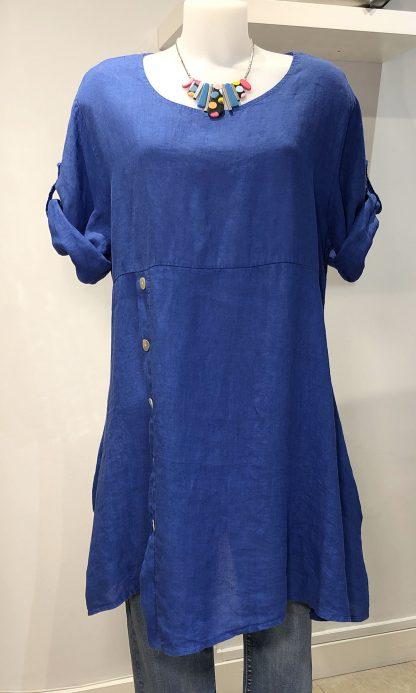 button linen tunic