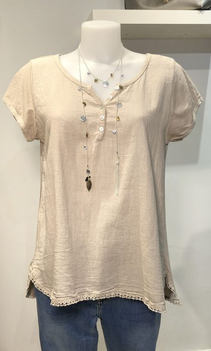 button front t shirt