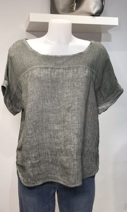 washed linen top