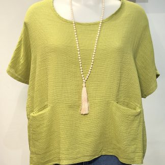 two pocket shorter top