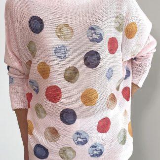 multicolour spot top