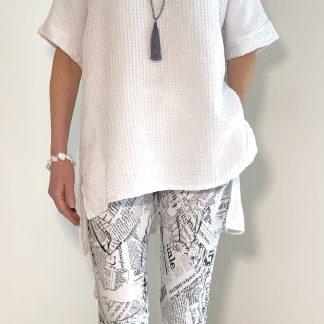 Newspaper Print Trousers