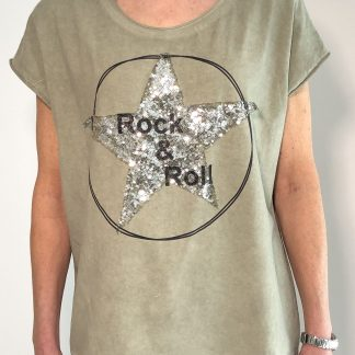 Star Rock and Roll T Shirt