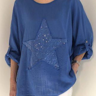glitter star top