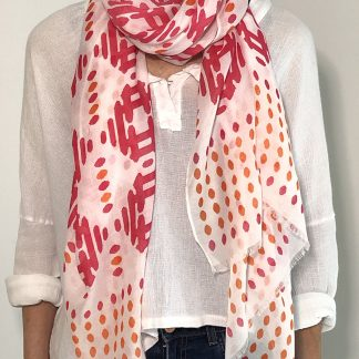 scarf lines and dots