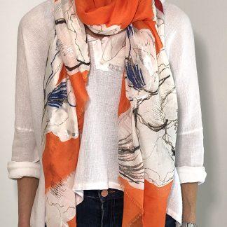 flower design scarf