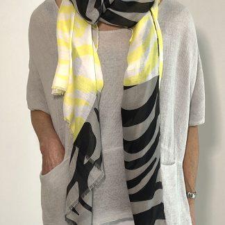Lightweight Scarf Zebra Stripe