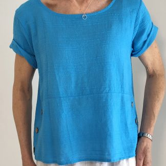 cotton top with side button