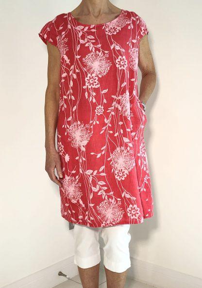 dandelion linen dress