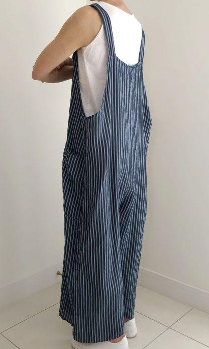 oversize stripe dungaree