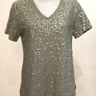 sequin sparkle top