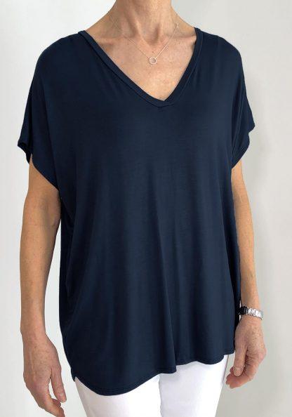 basic v-neck t shirt