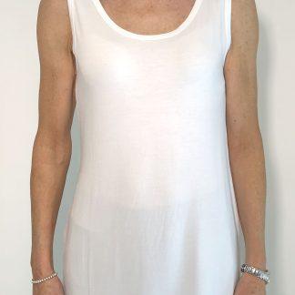 basic white vest
