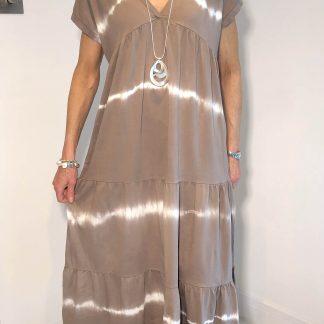 Horizontal Tie Dye Dress