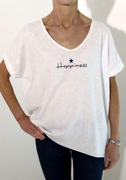 Happiness T Shirt, white