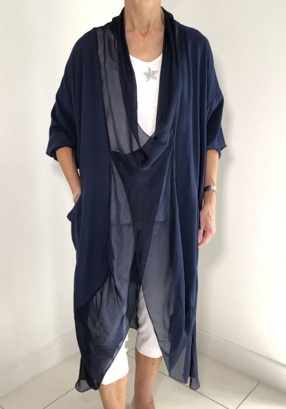 Silk Edged Cross Over Tunic