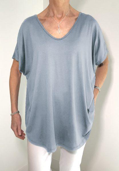 short sleeve v neck T shirt,