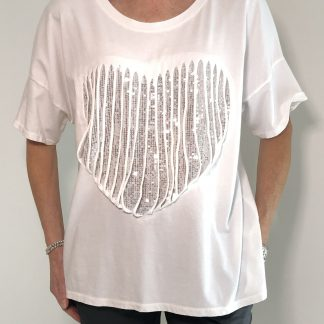 shredded heart T shirt