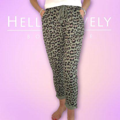 leopard print jogger 4 pocket