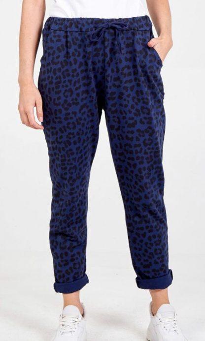 leopard print 4 pocket joggers