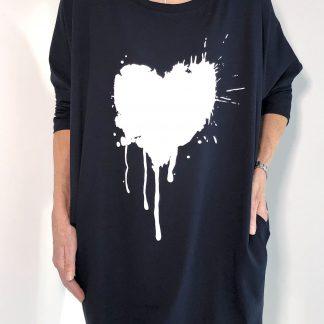 Paint Heart Long Top