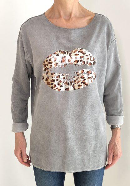 Lightweight 'Moleskin' Leopard Lips