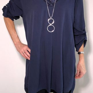 Satin Edged V Neck Tunic