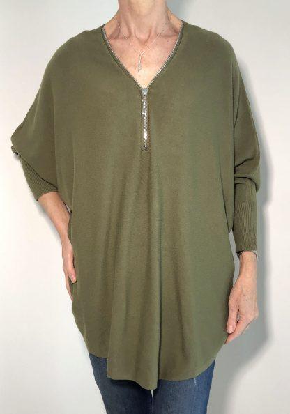 zip jumper plain