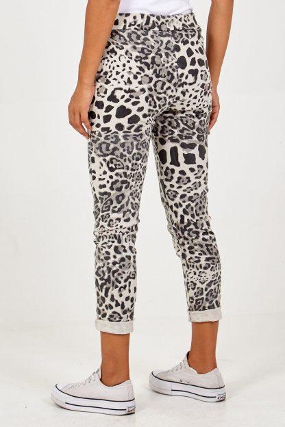 stretchy leopard print joggers